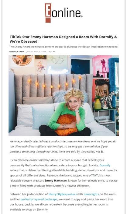 Emmy Hartman x Dormify